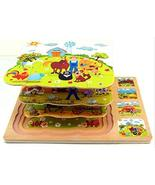 DANNI 3 Layer Wooden Puzzles,Early Education Multilayer Three-Dimensiona... - $15.22