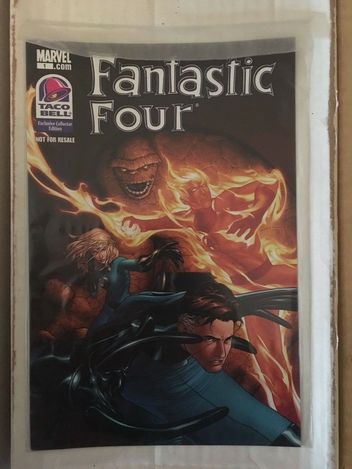 Fantastic Four #1 Taco Bell 2010 Marvel Comic Book Unopened Factory Sealed