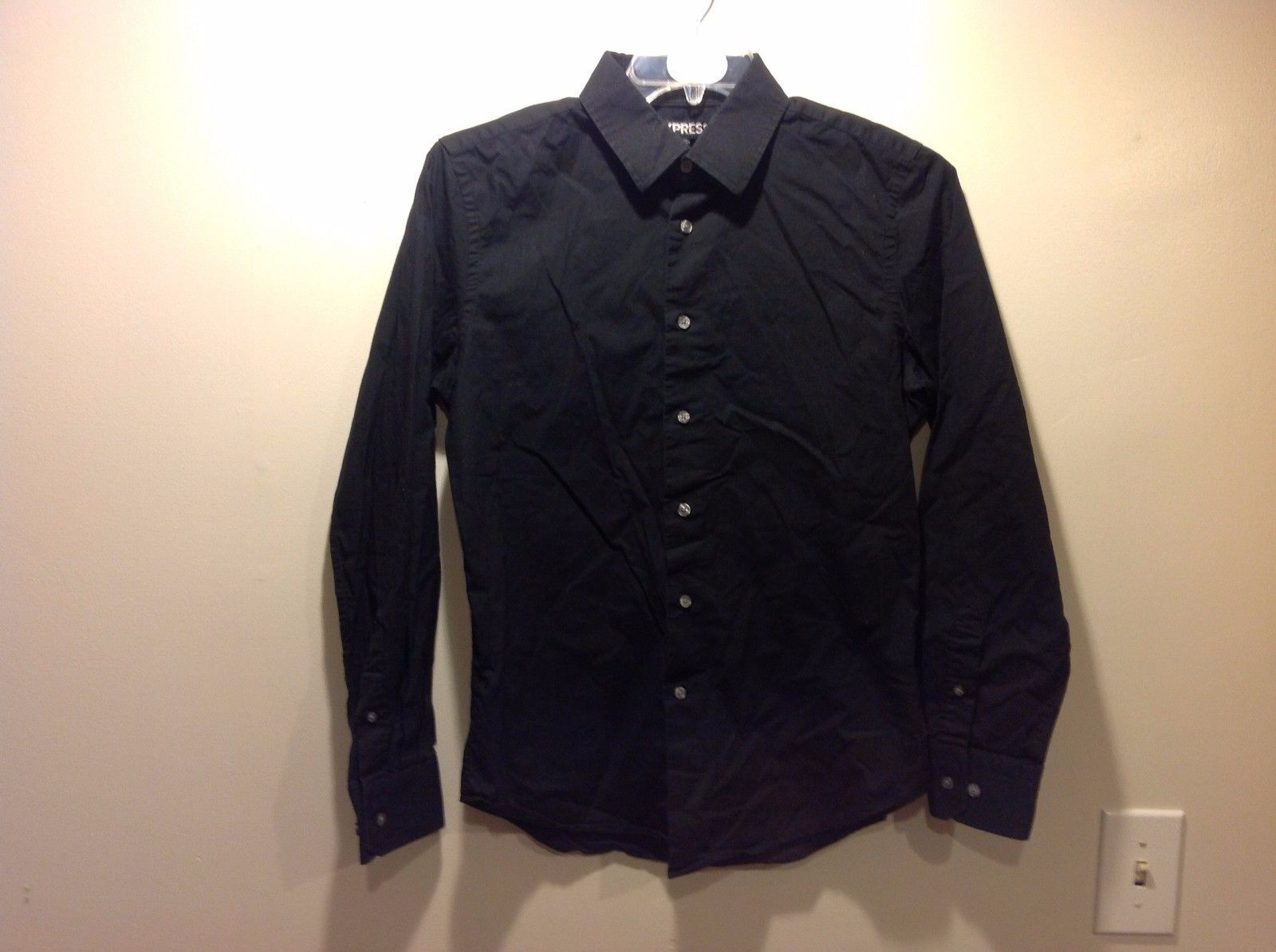 Nice black button up shirt by express for men sz m modern for Nice mens button up shirts
