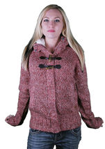 Bench Wolfster Red Knit Zip Up Sweater Hooded Jacket Hoodie image 6