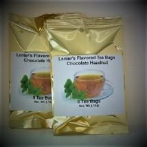 Lenier's English Style Chocolate Hazelnut flavored  2/8 count (16) tea bags - $4.59