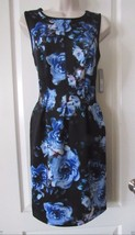 Apt. 9 Scuba Floral Pattern Fit & Flare Dress Women's  Sz. S NWT MSRP$50... - $26.39