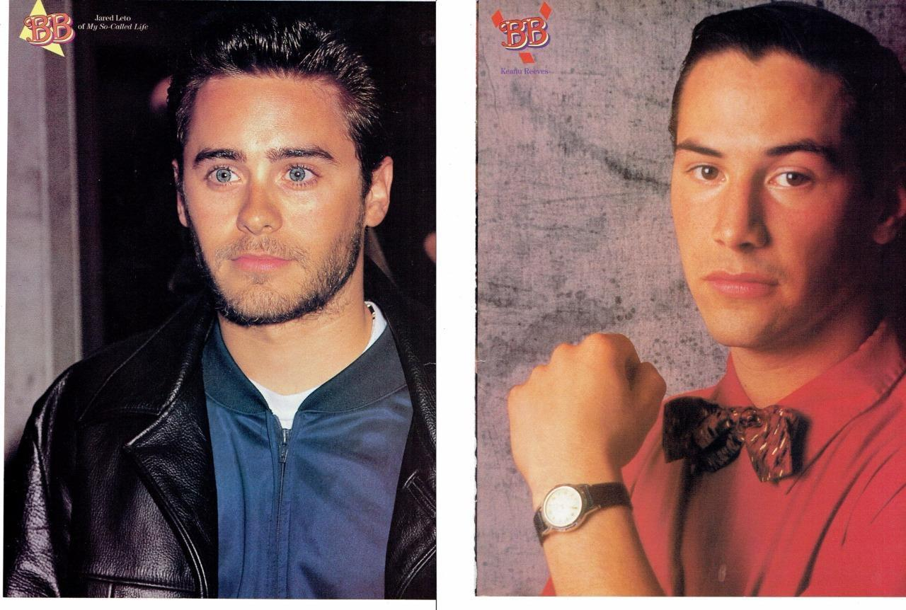 Jared Leto Keanu Reeves teen magazine pinup clipping Bop Tiger Beat Teen Beat