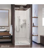 """Flex 32"""" W x 32"""" D x 76-3/4"""" H Frameless Shower Door, Backwall, Base Kit - $939.99"""