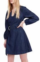 Free People Women's The Karmen Chambray Blue Boho Chic Mini Dress Size XS $148 - $59.39