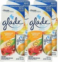 4 Glade Sense & Spray Concentrated Refill Hawaiian Breeze 0.43 oz Discontinued - $42.13