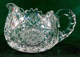 ABP American Brilliant  Cut Crystal with a Deep Cut Design Creamer - $16.83