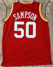 RALPH SAMPSON SIGNED PRO STYLE CUSTOM RED JERSEY JSA AUTHENTICATED - $68.31