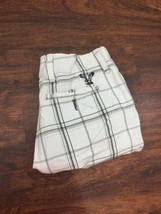 AMERICAN EAGLE Men's White and Black Plaid Summer Shorts Size 30 - $528,97 MXN