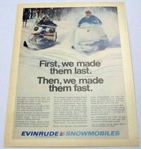1970 Print Ad Evinrude Snowmobiles Made in Milwaukee,Wisconsin - $13.14
