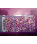 Jamberry Nails 1/2 Sheet (new) ORCHID BOUQUET - $8.42