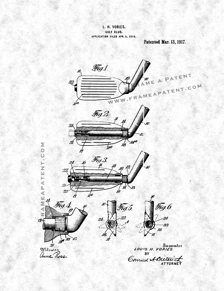 Primary image for Golf Club Patent Print - Gunmetal