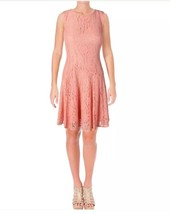 Tommy Hilfiger Womens Orange Lace Fit & Flare Party Dress, Size 2 - $31.13