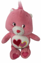 "Care Bears Love A Lot 9"" Plush 2002 Pink Hearts - $18.56"