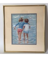 Ivan Anderson S.A.I Signed Children Series Lithograph Gold Tone Framed - $74.42