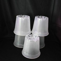 (5 Pack) 6'' Clear Round Plastic Orchid Pot  by Sophie's Orchids - $19.85