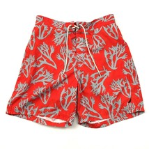 Nautica Board Shorts Men's Size Large L Swim Trunks Coral Reef Print Ora... - $18.83
