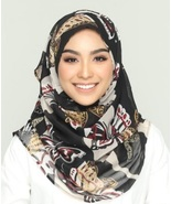 BOKITTA GOLDEN WINGS PREMIUM - PRINTED SMOOTH CHIFFON INSTANT HIJAB Musl... - $75.42+