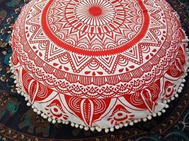 Traditional Jaipur Large Ombre Mandala Floor Cushion, Decorative Throw P... - $53.89