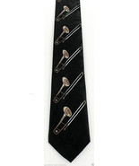 Trombones Mens Necktie Musical Instrument Musician Music Gift Black Neck... - $15.79
