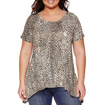 a.n.a Short-Sleeve High-Low Swing T-Shirt Plus Size 2X Msrp $36.00 New - $14.99