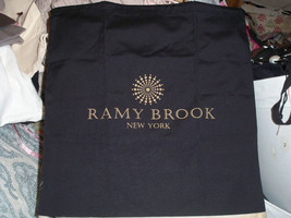 Designer Sleeper/ Dust Bag Ramy Brook Black Cotton with Gold  Logo 17x18 - $6.92