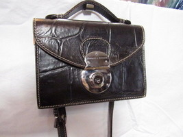 Small Dooney & Bourke Brown Leather Embossed Crossbody Purse - $93.50