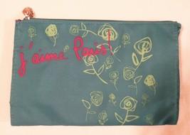 Lancôme j'aime Paris! Turquoise Blue w/ Lancôme Roses Print Cosmetic Bag... - $8.47