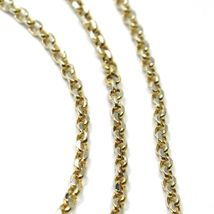 """SOLID 18K TWO TONE GOLD, 1.5 MM SIDE DIAMOND CUT ROLO CABLE CHAIN, BRIGHT 18"""" image 3"""