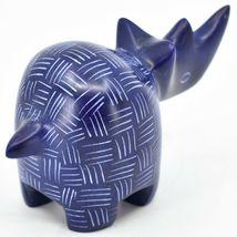 Tabaka Chigware Hand Carved Kisii Soapstone Blue Rhinoceros Rhino Figure Kenya image 4