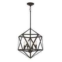 Quoizel Liberty Park 18-in Bronze Industrial Multi-Light Geometric Pendant - $236.97