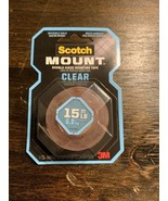 Scotch Mounting Tape Double Sided Adhesive 1 x 60 Inches Invisible Hold,... - $7.32