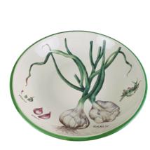 "Williams Sonoma Serving Bowl Culinary Herbs 13"" Pasta Garlic Flower Clove - $44.99"