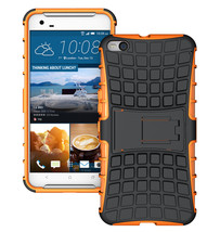 Duty Dual Layer Hybrid Shockproof Protective Cover Case for HTC One X9 - Orange  - $4.99