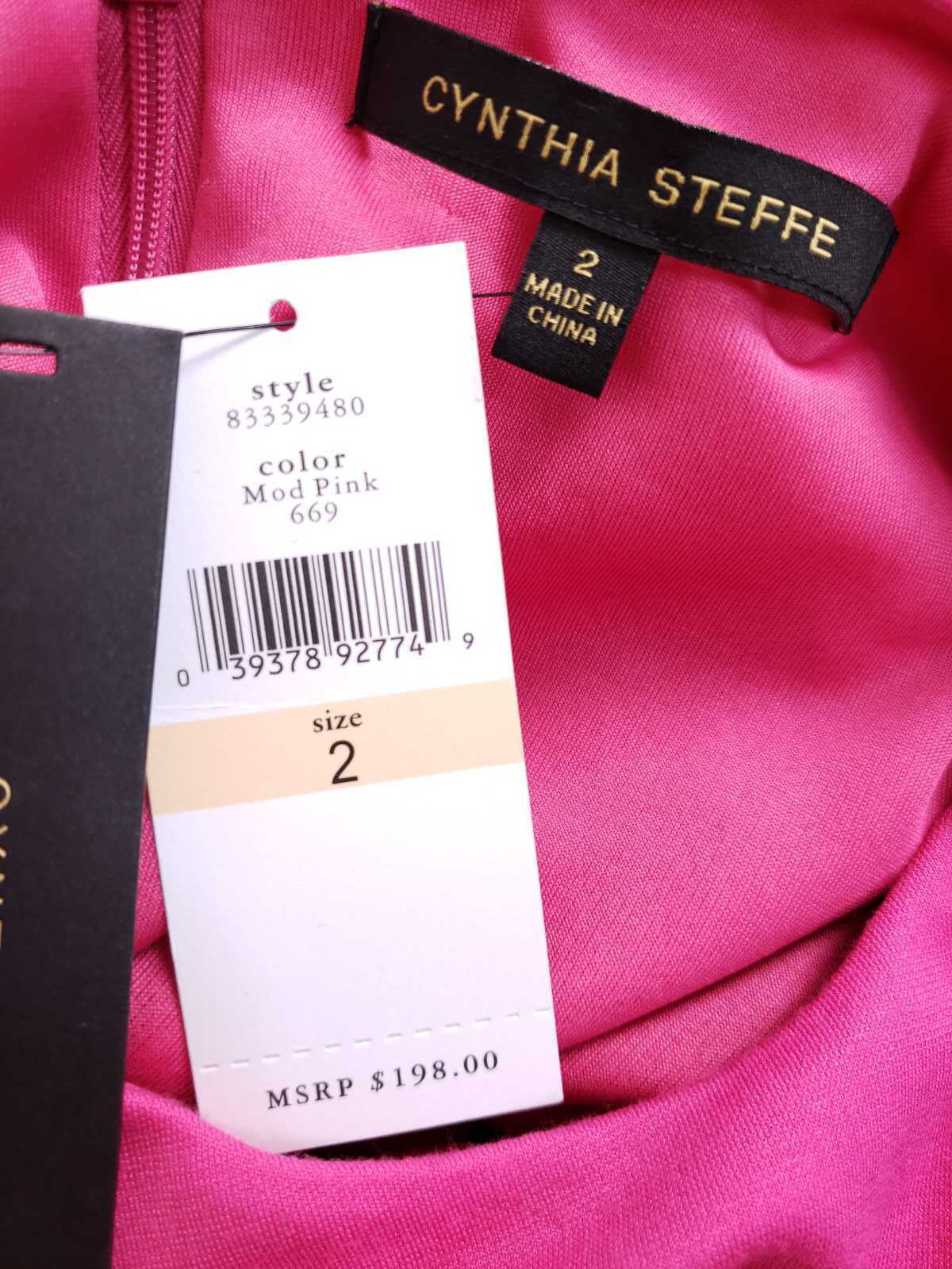 Cynthia Steffe Women Dress Size 2 NWT $198 Peplum Pencil Ponte Knit Sleeveless image 5