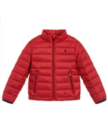 NEW POLO RALPH LAUREN KIDS BOYS PUFFER DOWN LIGHTWEIGHT RED JACKET M 10-... - $39.59