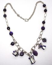 925 Silver Necklace, Amethyst, Mocha, Coffee Maker, Teapot, Pendants tiles image 3