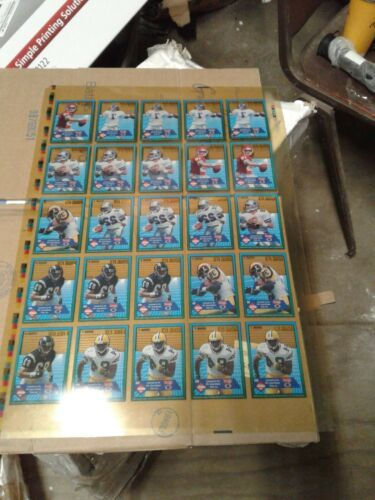 1994 COLLECTOR'S EDGE FOOTBALL - UNCUT CARDS / POSTER (jew)