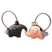 Milesi one pair of elephant couples keychain lovers key ring women's bag... - $24.34
