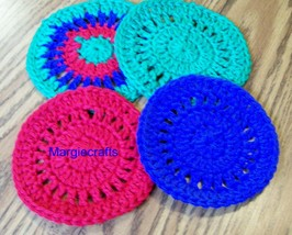 Drink Coasters, Handmade, Crochet, Placemat, Round Drink Mat,  - $15.00