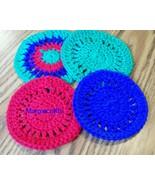 Drink Coasters, Handmade, Crochet, Placemat, Round Drink Mat,  - $15.00