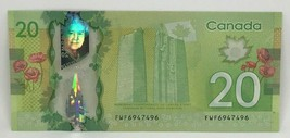 Canadian 2012 $20 Radar Note Frontiers issue Serial # FWF6947496 - $38.69