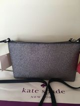 KATE SPADE %Authentic Joeley Smooth Glitter Dust Navy Crossbody Bag (WKRU6288) image 3