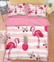 3D Birds Fruits Bed Pillowcases Quilt Duvet Cover Set Single Queen King Size AU - $90.04+