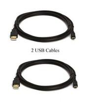 Two 2 Usb Cables For Canon A2000IS S5IS S30 A2100IS D10 Wp E1 SX40 Hs 5D Mark Ii - $10.76