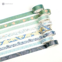 Washi Tape Cute Gold Foil Decorative Masking Tapes Great for Diy Arts an... - $3.36
