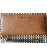 $168 NWT Michael Kors Bedford Luggage Brown Travel Continental Leather W... - $119.99