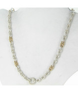Alwand Vahan Link Chain Necklace Petal Cap 14K Gold Sterling Silver New ... - $843.89
