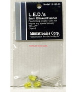 Miniatronics~#12-153-03~LED Blinker/Flasher~5mm~Yellow~w/Resistors~3Pcs - $8.00