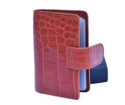 Classic Cinnamon Brown Pretty Good Crocodile Leather Classy Wallet For Men - $176.39